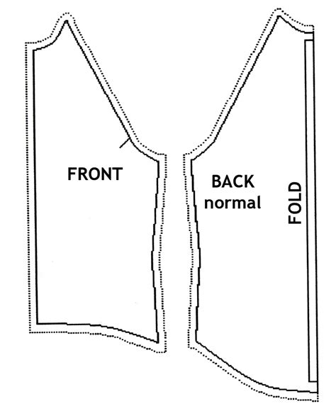 free printable vest pattern cutting out the pattern for women s raglan jacket