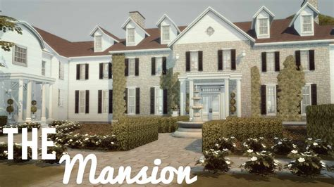 build a mansion the sims 4 house building the mansion sims pinterest