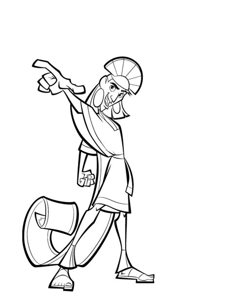 Emperor New Groove Coloring Pages Coloringpagesabc