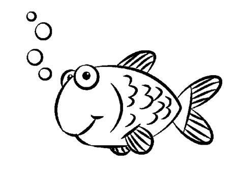 fish cartoon black and white