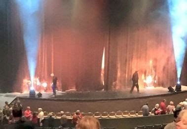 stage fire curtain curtains contact with stage lighting blamed for vbc fire