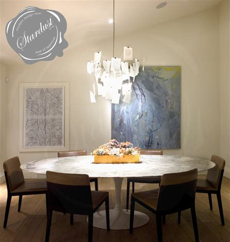 Contemporary Lighting Dining Room Dining Room Table Chandelier Ingo Maurer Zettel Z 5 L Modern Dining Room New York By