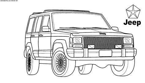 coloring pages jeep grand cherokee jeep coloring pages to download and print for free