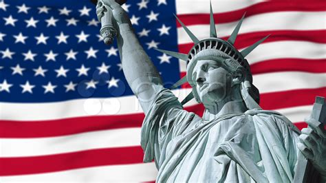 statue of liberty and flag statue of liberty with us flag stock 000485761 hd