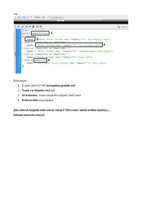 cara membuat soal essay flash cara membuat latihan pilihan ganda di macromedia flash