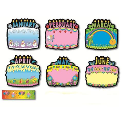 happy birthday corner design birthday cakes bulletin board set