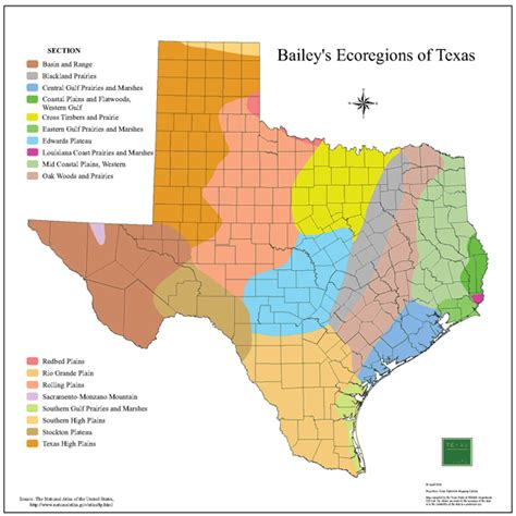 texas ecoregion map tpwd gis lab map downloads