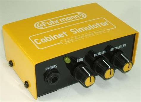 Bass Cabinet Simulator by Fuhrmann Cabinet Simulator Effects Database