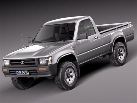 Toyota Truck Models Toyota Hilux Regular Cab 1989 1997 3d Model Max