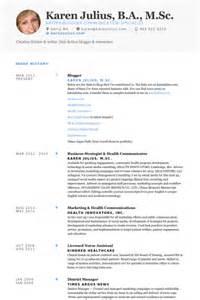 blogger resume samples visualcv resume samples database