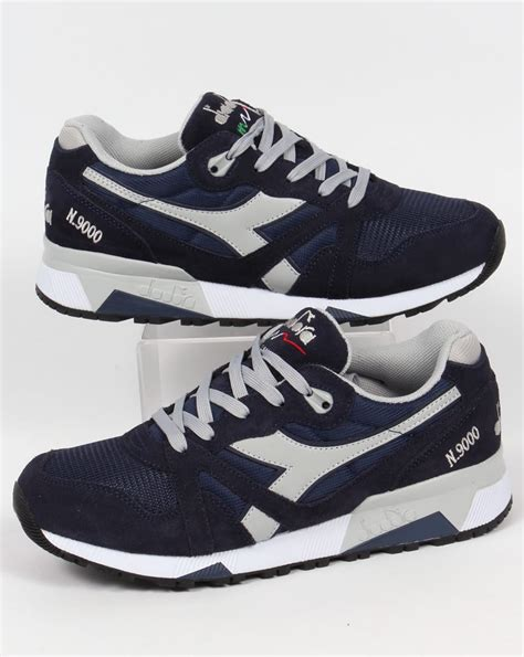 Diadora Ultimo Navy Size 40 diadora n9000 nyl trainers navy high rise shoes runners