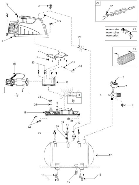 cbell hausfeld fp209402 parts diagram for air compressor parts