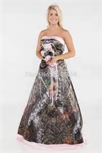 Cheap pink camo wedding dresses