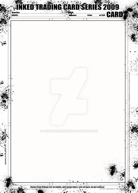 bifold card template deviantart inked trading card template by dontborninink on deviantart