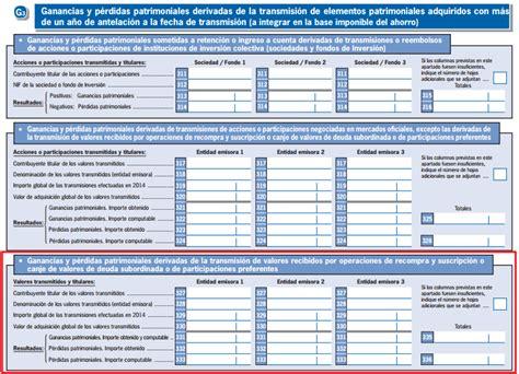renta 2015 venta inmueble herencia ca 241 a renta y patrimonio 2014