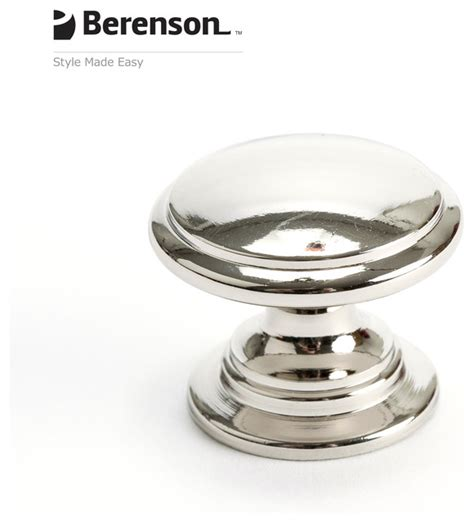 Polished Nickel Knobs For Cabinets by 4145 1014 P Polished Nickel Knob By Berenson Hardware