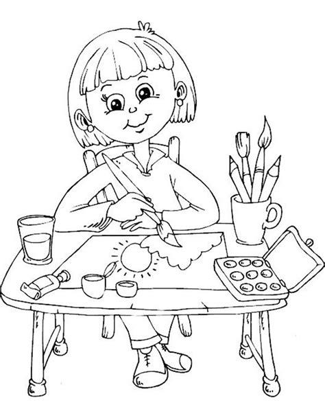 Untuk Anak Anak gambar mewarnai anak sedang belajar