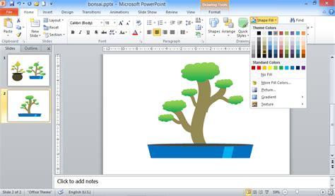 membuat jam di power point kreasi bonsai di slide ppt sipowerpoint