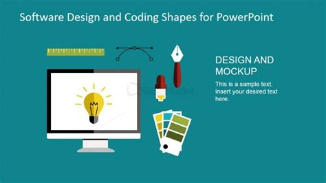 web and graphic design tools powerpoint shapes slidemodel