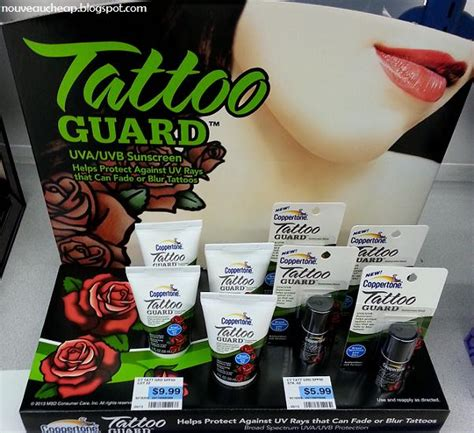 tattoo guard lotion spotted new coppertone tattoo guard spf50 lotion and