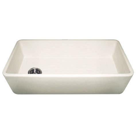 Whitehaus Kitchen Sink Whitehaus Collection Duet Reversible Apron Front Fireclay 36 In 0 Single Bowl Kitchen Sink
