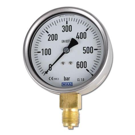 Pressure Manometer 25 Inchi Wika manometer klass 1 0 st 229 ende 1 till 1000 bar 216 100 mm