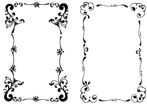 cornici publisher floral frames set 1 by andra04 on deviantart
