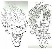 Clown Skull WIP By Vikingtattoo On DeviantArt
