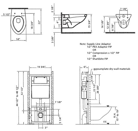 Water Closet Carrier Dimensions by Cheviot Concealed Wall Hung Toilets