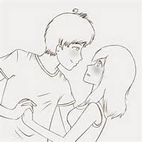 Cute Couple Sketch By Grjon