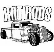 Hot Rod Cartoons Colouring Pages