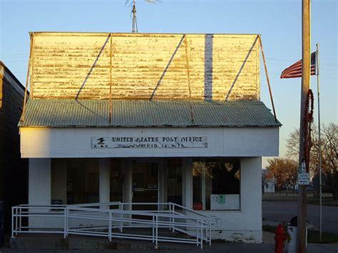 Cedar Bluff Post Office by U S Route 40 Roadside Attractions Kansas