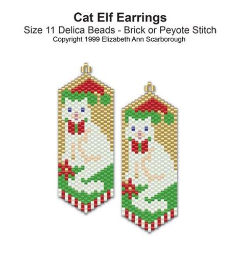 beadwork cat cat earrings bead patterns