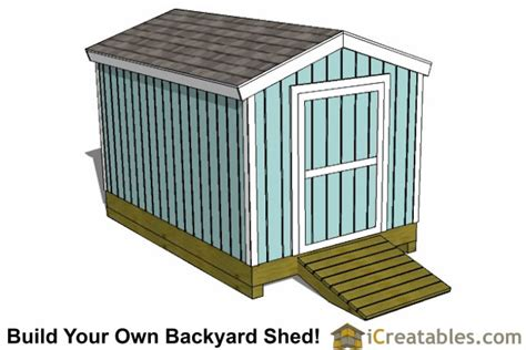 Garden Shed Plans 8x12 by 8x12 Shed Plans Storage Shed Plans Icreatables