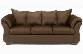 brown couch cafe darcy cafe living room set from ashley 75004 coleman