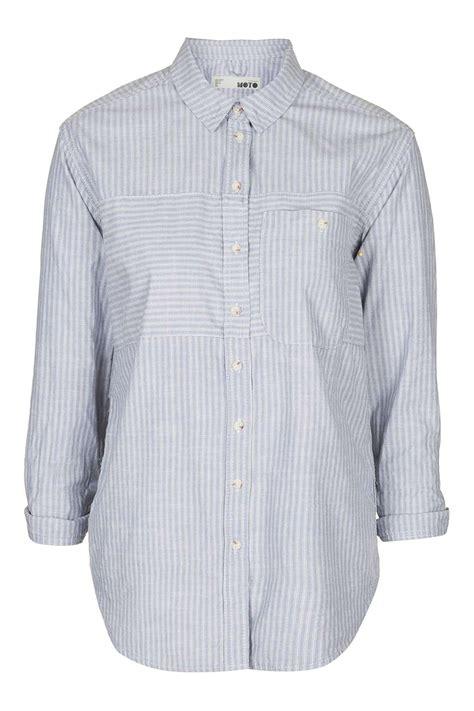 Striped Oversized Shirt moto stripe oversized shirt topshop