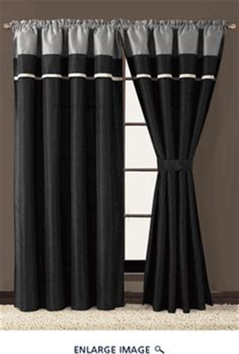 Black And Grey Curtains Curtains On Pinterest