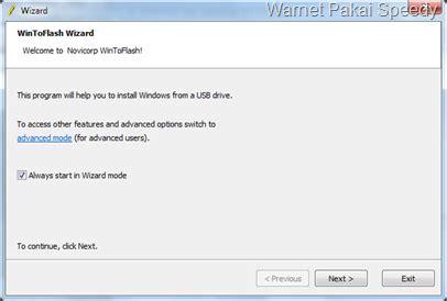 membuat bootable xp dengan wintoflash warnet pakai speedy membuat flashdisk bootable windows