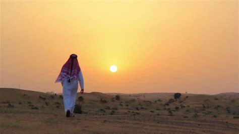 arab hd arabic man at sunset stock footage video 5858021