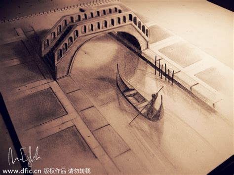 Sketches 3d by New Views Amazing 3d Pencil Drawings 2 Chinadaily Cn