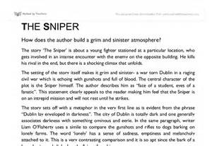 The Sniper Essay the sniper mood gcse marked by teachers