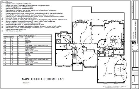 plan drawings house9 main floor electric plan sds plans