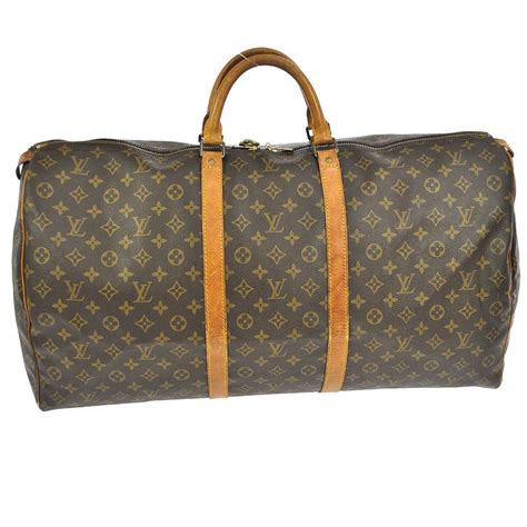 louis vuitton authentic keepall  monogram hand bag