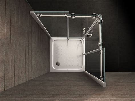 paroi de d angle 80 x80 cm avec portes coulissantes