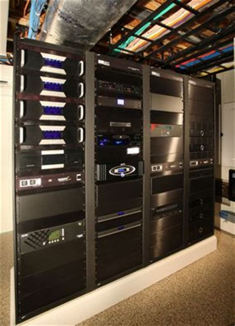 whole home automation rack and cabling home automation