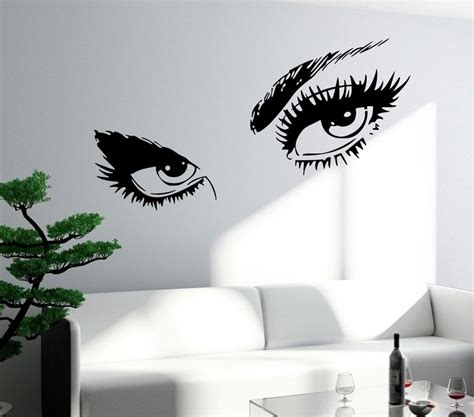 Wall Stickers Quotes For Bedrooms wall sticker sexy hot eyes girl teen woman big decal for