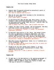 great gatsby study guide the great gatsby study guide