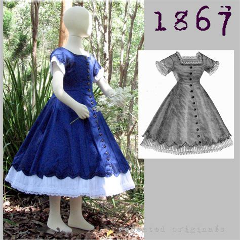 dress pattern for 8 year old 1867 day dress for a girl 8 to 10 years old victorian