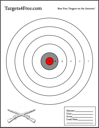 printable long range rifle targets targets4free page 8 of 8 print your own shooting targets