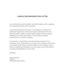 Writing Recommendation Letter For Writing A Letter Of Recommendation For A Student For College